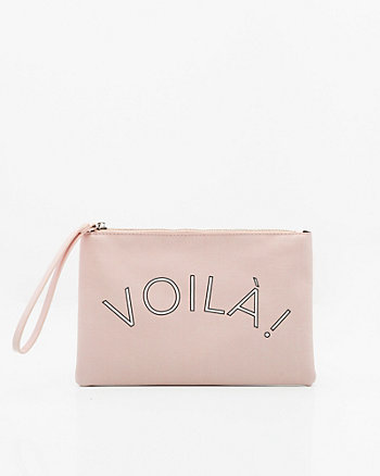 Voilà Leather-Like Cosmetic Pouch