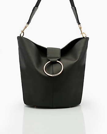 Pebble Faux Leather Hobo Bag