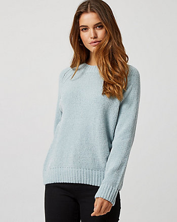 Metallic Knit Chenille Sweater