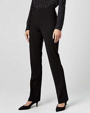 Ponte Knit Slight Flare Trouser