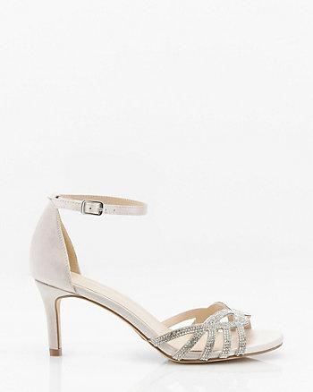 Jewel Embellished Satin Sandal