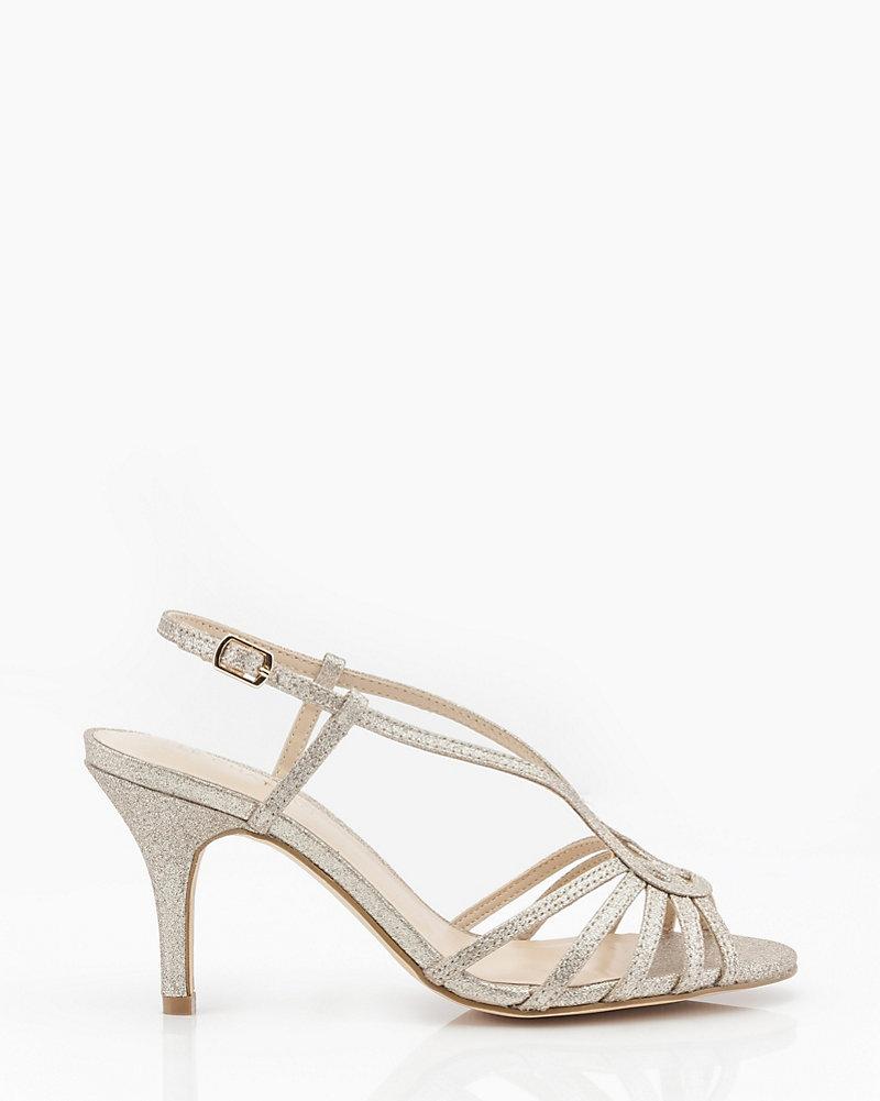 8afe042d5ca LE CHÂTEAU: Glitter Open Toe Strappy Sandal