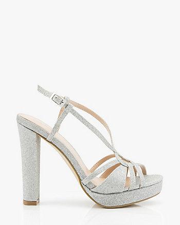 Glitter Strappy Platform Sandal