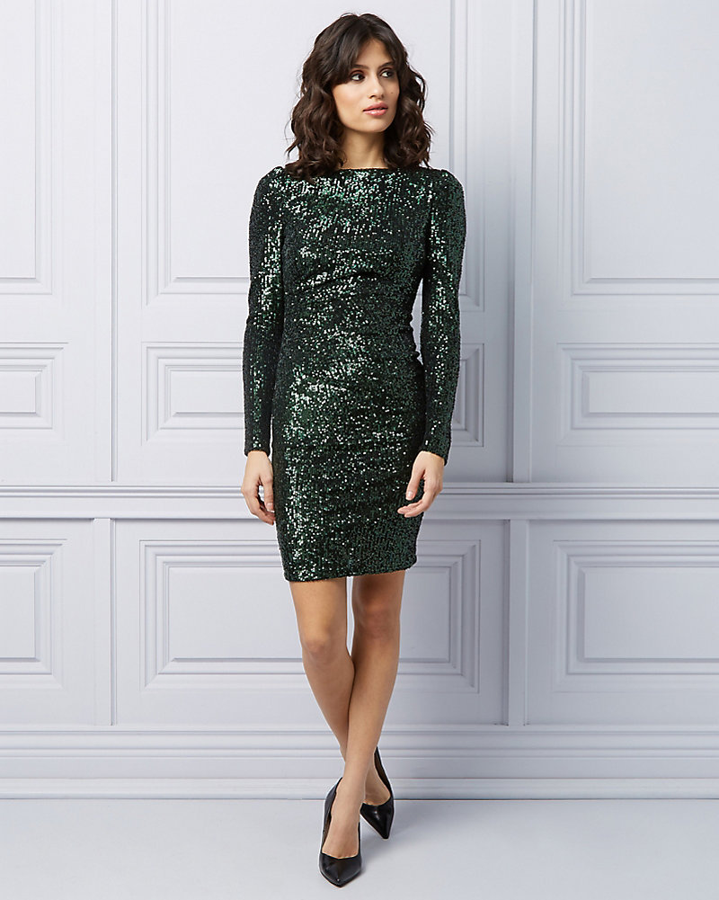 Long Sleeve Sequin Cocktail Dress  9f83fbde2