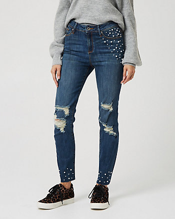 Denim Regular Rise Skinny Leg Pant