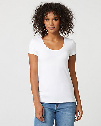 Scoop Neck Jersey Knit