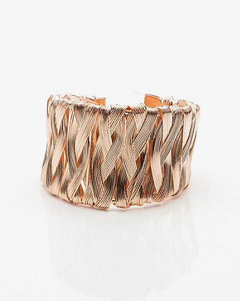 Wrapped Open Cuff Bracelet