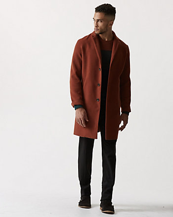 Cashmere-Like Notch Collar Topcoat