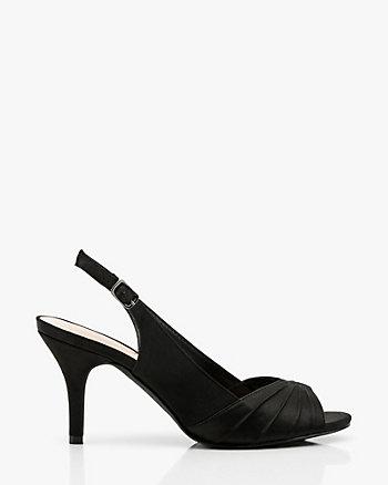 Satin Peep Toe Slingback Sandal