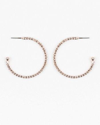 35mm Gem Hoop Earrings