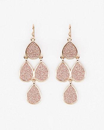 Glitter Chandelier Earrings