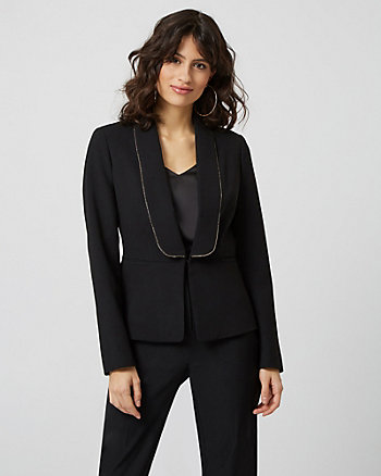 Satin & Crêpe Shawl Collar Blazer