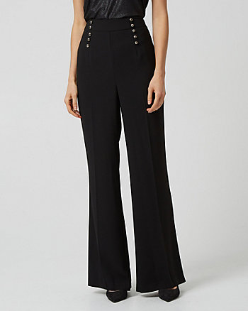 High Waist Wide Leg Sailor Pant