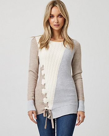 Cable Knit Asymmetric Sweater