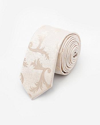Tonal Vine Print Microfibre Tie