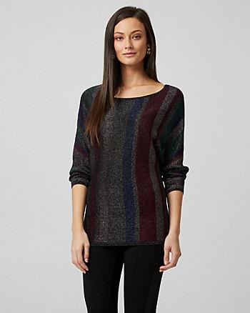 Metallic Stripe Sleeve Sweater