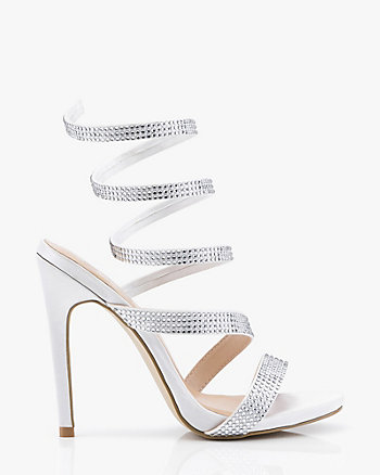 2cc002e6aa6 Jewel Embellished Satin Strappy Sandal