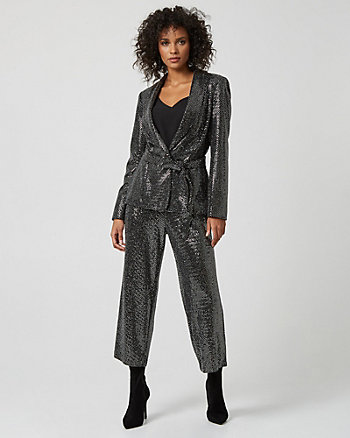 Metallic Knit Culotte Pant