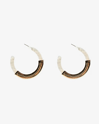 Metal Accent Acrylic Hoop Earrings