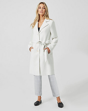 Bouclé Notch Collar Coat
