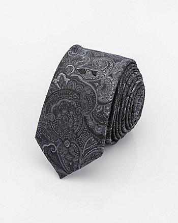 Tonal Paisley Print Tie