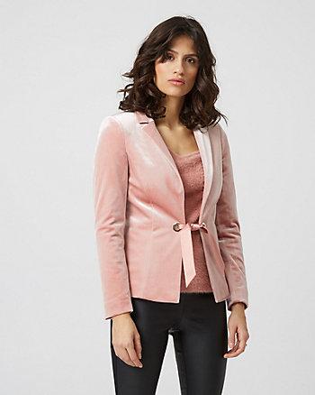Velvet Tie Front Blazer