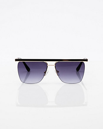 Gradient Metal & Plastic Sunglasses