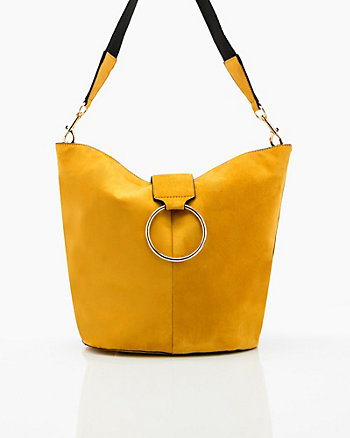 Suede-Like Hobo Bag