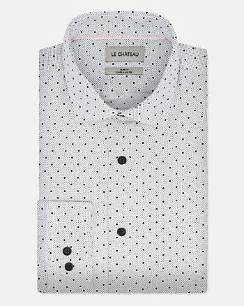 Dot Print Woven Regular Fit Shirt