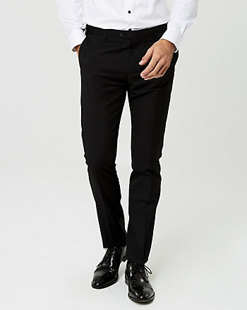 Ponte Knit Tapered Leg Pant