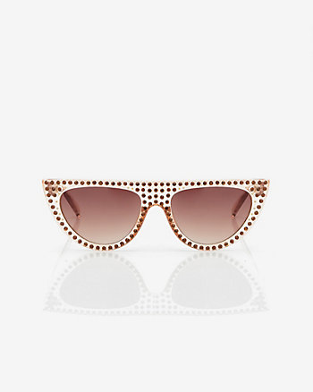Jewel Embellished Cat Eye Sunglasses