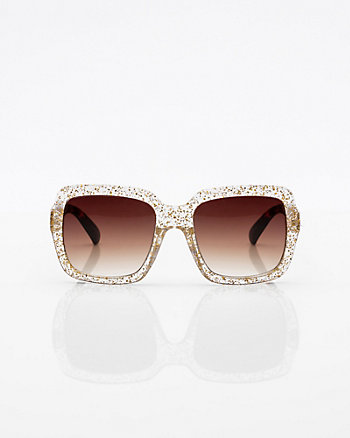 Glitter Square Sunglasses