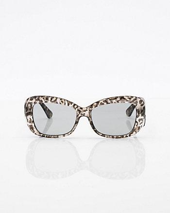 Leopard Print Oval Sunglasses