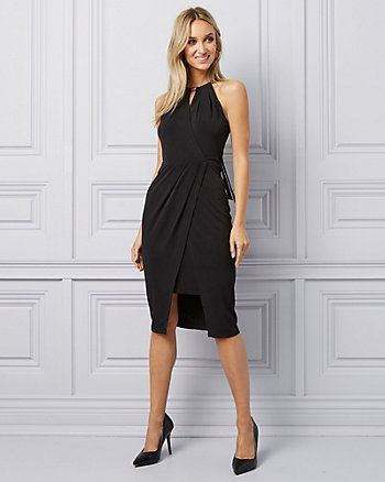 Knit Halter Neck Cocktail Dress