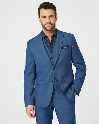 Tonal Piqué Contemporary Fit Blazer