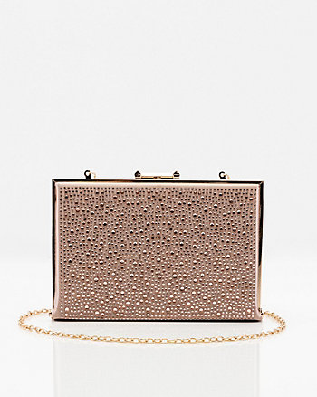 Jewel Embellished Satin Minaudiere