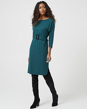 Ponte Belted Tunic Dress