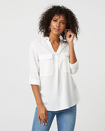 Viscose Split Neck Blouse