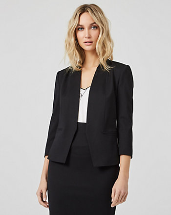 Ponte Knit Shawl Collar Blazer