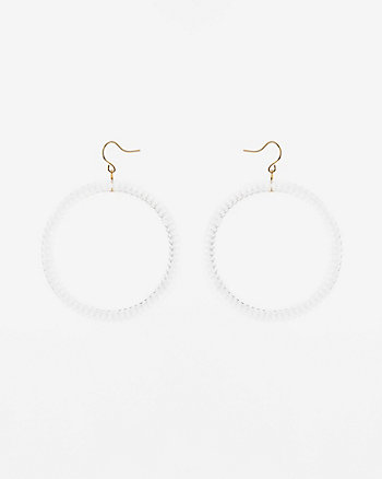Transparent Textured Hoop Earrings