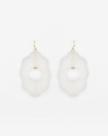 Transparent Floral Earrings
