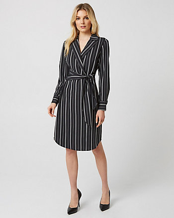 Stripe Belted Blazer Dress