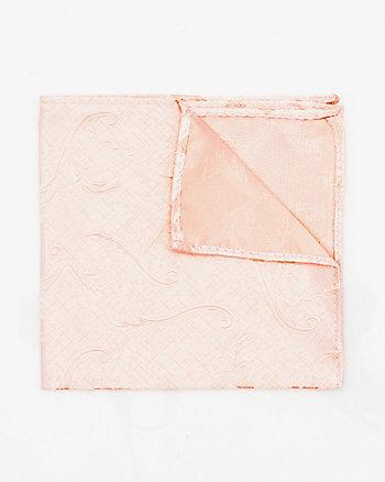 Tonal Vine Print Microfibre Pocket Square