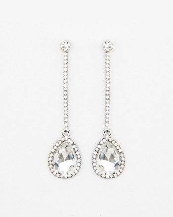 Pear Shaped Gem Drop Earring