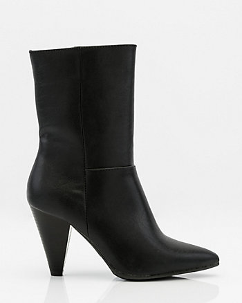 Pointy Toe Cone Heel Ankle Boot