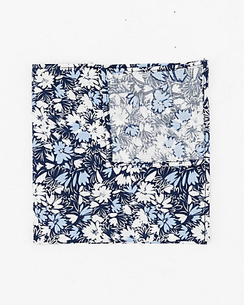 Floral Print Cotton Poplin Pocket Square