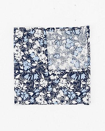 Mouchoir fleuri en popeline de coton