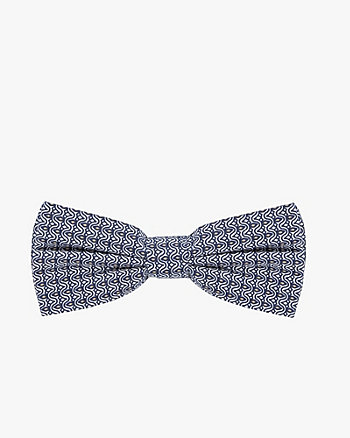 Geo Print Cotton Poplin Bow Tie