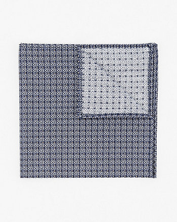 Geo Print Cotton Poplin Pocket Square