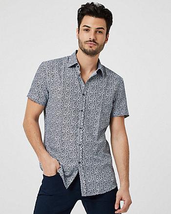 Chemise à manches courtes et motif floral